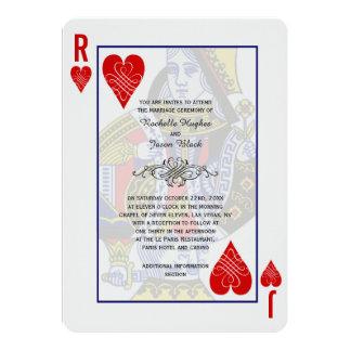 Koning de Uitnodiging van de Koningin Speelkaart