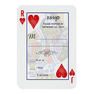 Koning Koningin Speelkaart RSVP 8,9x12,7 Uitnodiging Kaart