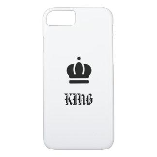 Koning met kroonontwerp, elegant en eenvoudig iPhone 8/7 hoesje