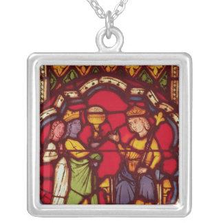 Koning Solomon en de Koningin van Sheba, c.1270 Zilver Vergulden Ketting