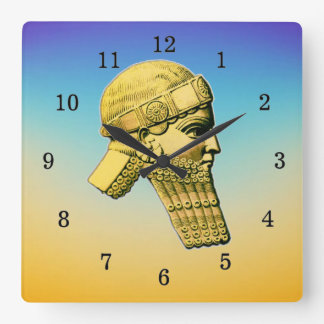Koning van de AcrylKlok van de Muur Assyria Vierkante Klok