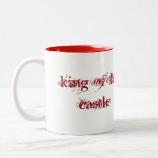 koning van de kasteelmok tweekleurige koffiemok