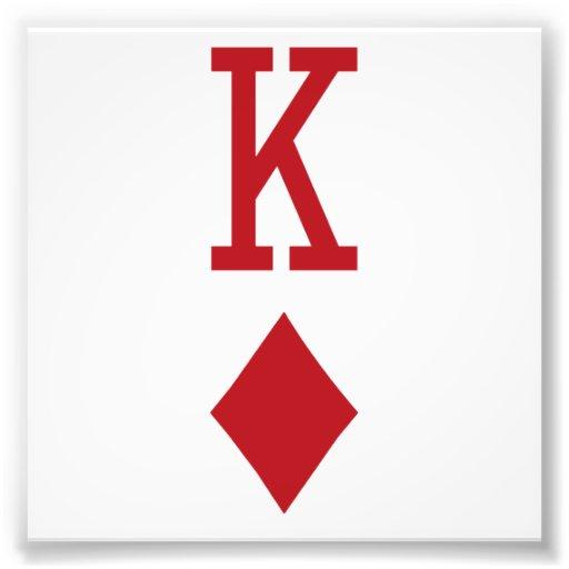 Koning van de Rode Speelkaart van Diamanten