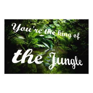 Koning van het oerwoud briefpapier