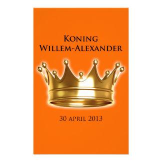 Koning Willem-Alexander Briefpapier Ontwerp