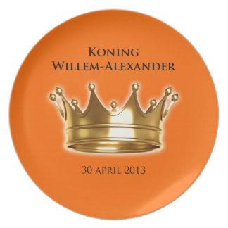 Koning Willem-Alexander Diner Bord