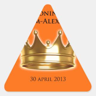 Koning Willem-Alexander Driehoekige Stickers