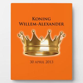 Koning Willem-Alexander Foto Plaat