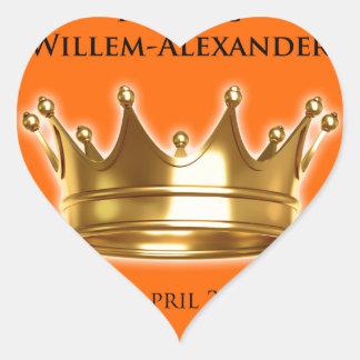 Koning Willem-Alexander Hart Sticker