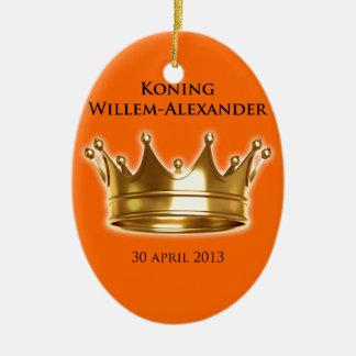 Koning Willem-Alexander Keramisch Ovaal Ornament