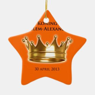 Koning Willem-Alexander Keramisch Ster Ornament