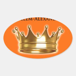 Koning Willem-Alexander Ovale Sticker
