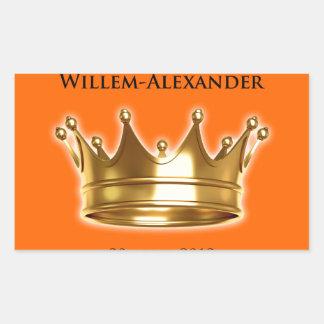 Koning Willem-Alexander Rectangular Sticker