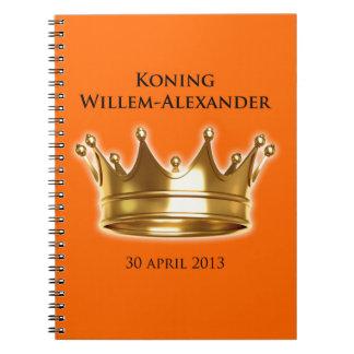 Koning Willem-Alexander Ringband Notitie Boeken