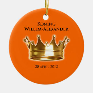 Koning Willem-Alexander Rond Keramisch Ornament