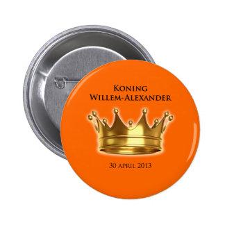 Koning Willem-Alexander Ronde Button 5,7 Cm