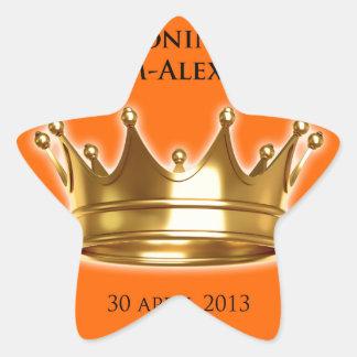 Koning Willem-Alexander Stervormige Sticker