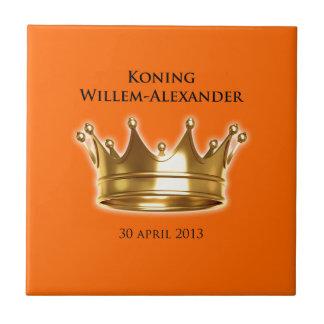 Koning Willem-Alexander Tegeltje Vierkant Small