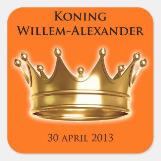 Koning Willem-Alexander Vierkante Stickers