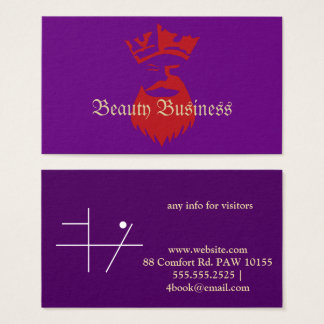 Koningin Beard Beauty Business Visitekaartjes