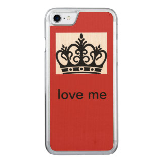 Koningin Carved iPhone 8/7 Hoesje