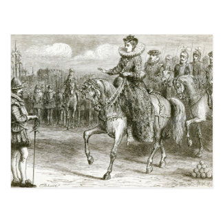 Koningin Elizabeth bij Tilbury Briefkaart