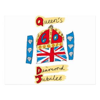 koningin elizabeth diamanten jubileum 2012 briefkaart