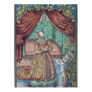 Koningin Elizabeth I bij Gebed, frontispice Briefkaart