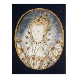 Koningin Elizabeth I, c.1595-1600 Briefkaart