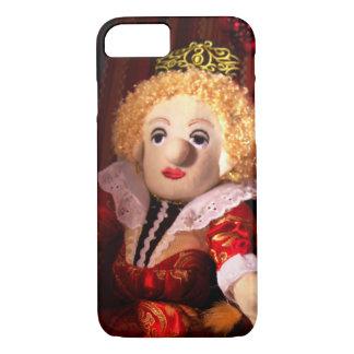 Koningin Elizabeth is een iPhone 7 van Doll Hoesje