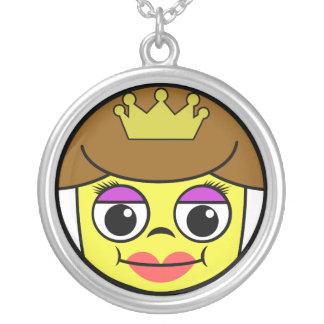 Koningin Face Zilver Vergulden Ketting