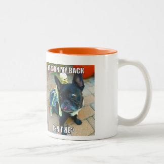 Koningin FiFi Halloween Mug Tweekleurige Koffiemok