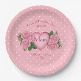 Koningin van alles Roze Mamma Papieren Bordje