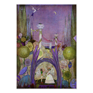 Koningin van de Bloemen van Druk Thumbelina Poster