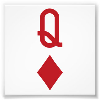 Koningin van de Rode Speelkaart van Diamanten