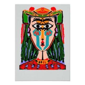 Koningin van de Samenvatting van Kaarten 12,7x17,8 Uitnodiging Kaart