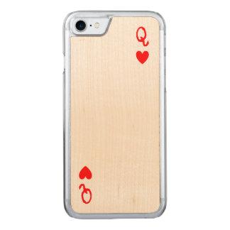 Koningin van de telefoonhoesje van Harten Carved iPhone 7 Hoesje
