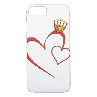 Koningin van de telefoonhoesje van Harten iPhone 7 Hoesje