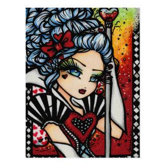 Koningin van Harten Alice Fairy Fantasy Art Girl Briefkaart