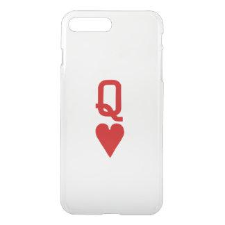 Koningin van Harten iPhone7 plus Duidelijk Hoesje