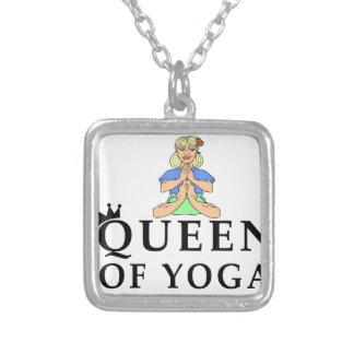 koningin van yoga zilver vergulden ketting