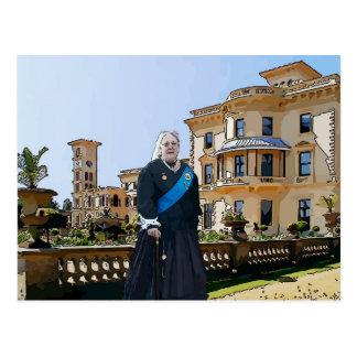 Koningin Victoria bij Huis Osborne Briefkaart