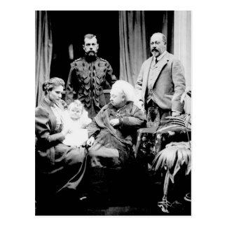 Koningin Victoria, Tsaar Nicolaas II Briefkaart