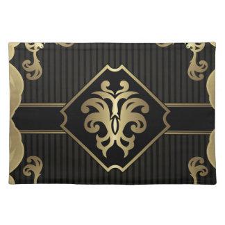 koninklijk, gouden, fleur DE lis, elegant patroon, Placemat