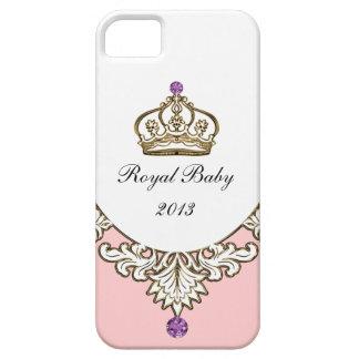 Koninklijke iPhone 5 van het Monogram van het Baby Barely There iPhone 5 Hoesje