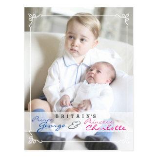Koninklijke Kinderen - George & Charlotte Briefkaart