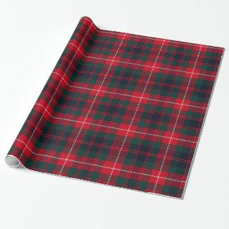 Koninklijke Stewart Dark-red Tartan Pattern Inpakpapier
