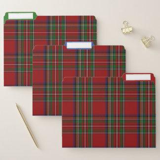 Koninklijke Stewart Plaid File Folder Set Documentenmappen