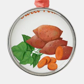 Kook een Dag van de Bataat - de Dag van de Zilverkleurig Rond Ornament