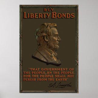 Koop de Banden van de Vrijheid -- Abraham Lincoln Poster